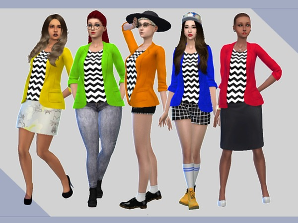 Chevron Blazer -5 colours- by xjellybearx