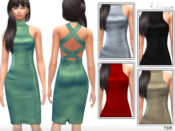 Cross Back Dress by ekinege