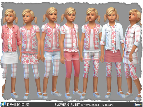 Flower Girl Set (6 Items) by Devilicious