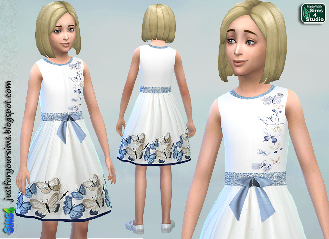 Butterfly Dress by Just For Your Sims