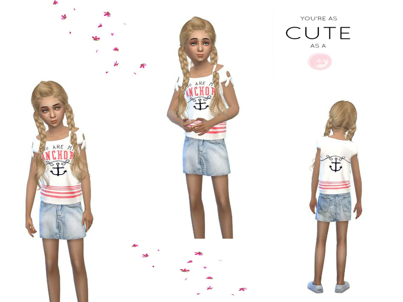 cute maritimoutfit for girls  BY simsoertchen