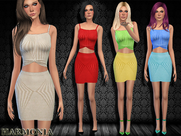 Gathered Two Piece Bodycon dress by Harmonia