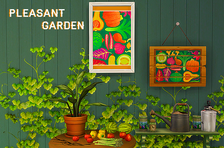 Pleasant Garden Paintings by Boolparty
