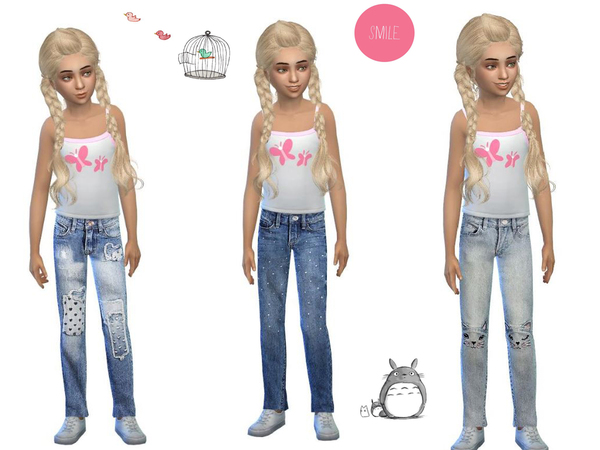 sweet jeans set for girls by simsoertchen