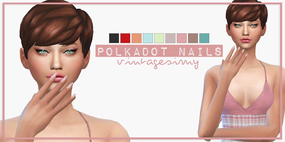 Polkadot Nails by VintageSimy