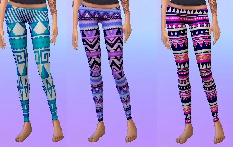 Aztec Leggings Set of 6 by christmas fear