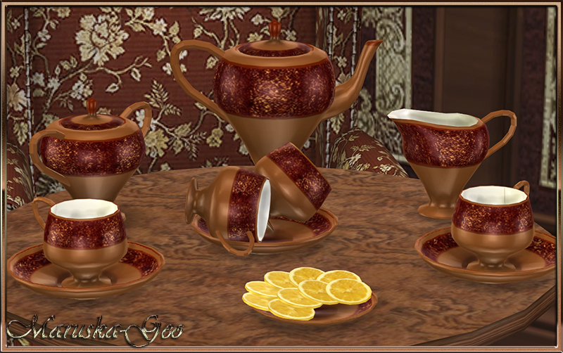 """Five oclock"" set of dishes by Maruska-Geo"