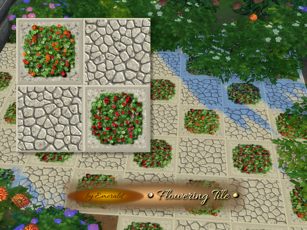 Flowering Tile by emerald