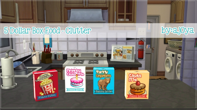 5 Dollar Box Food Clutter by Ajoya