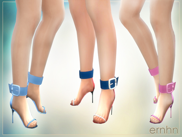 Large Buckle High Heels by ernhn