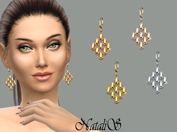 NataliS_Beads cascade drop earrings FA-FE