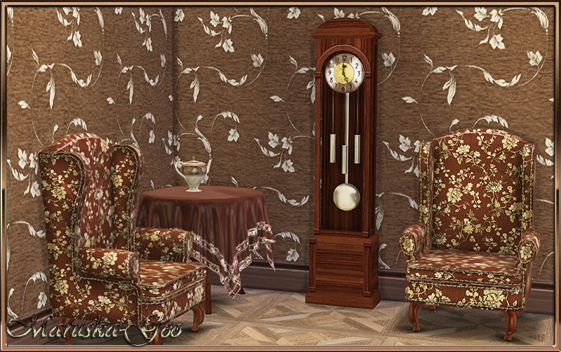 """Five oclock"" set of furniture by MaruskaGeo"