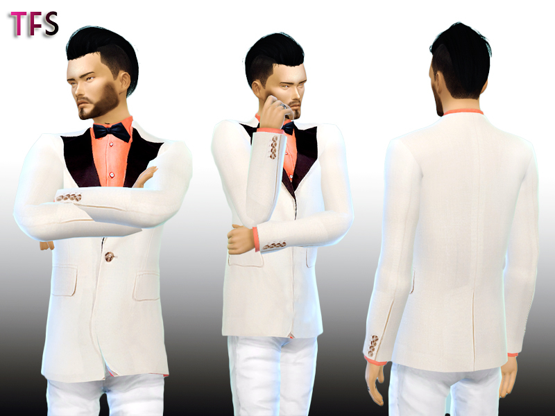 White Tuxedo BY TwistedFate Sims