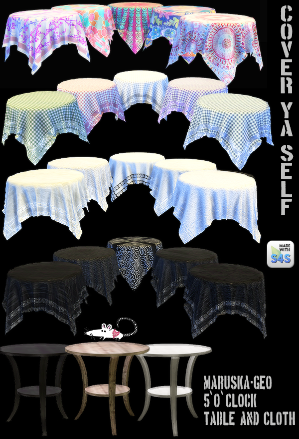 Tablecloth Recolors by LoveratSims4