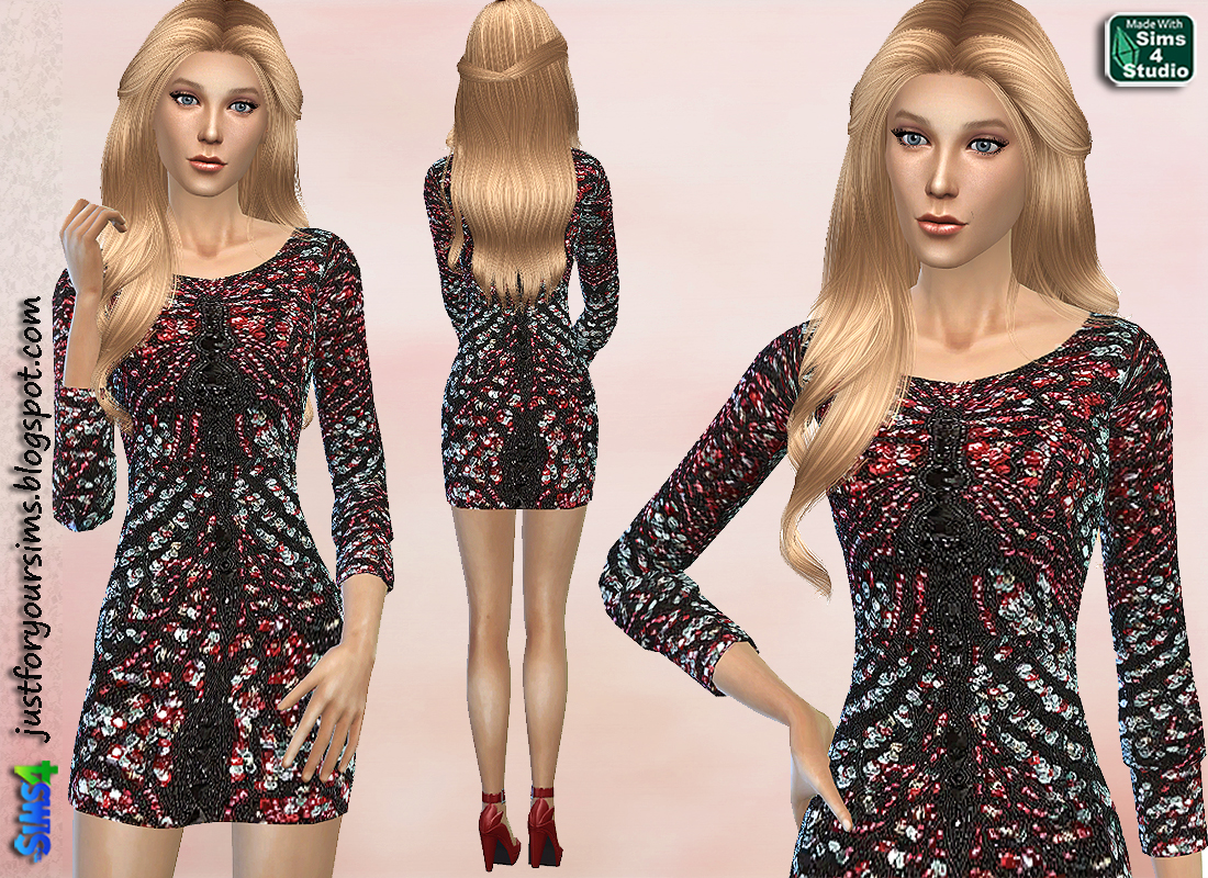 Embellished Mini Dress by Just For Your Sims
