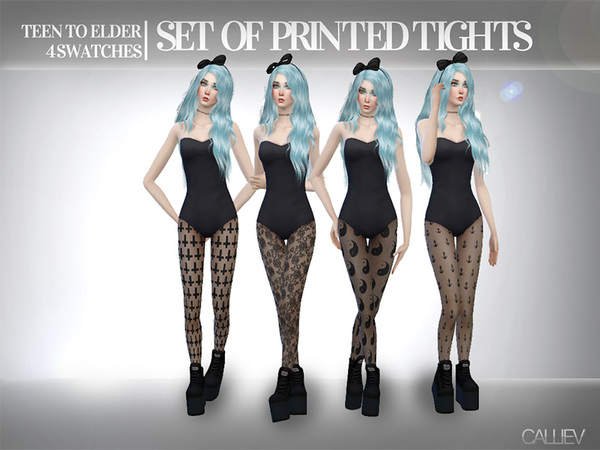 Grunge Printed Tights by Callie V