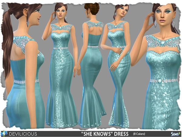 SHE KNOWS Dress (8 Colors) by Devilicious