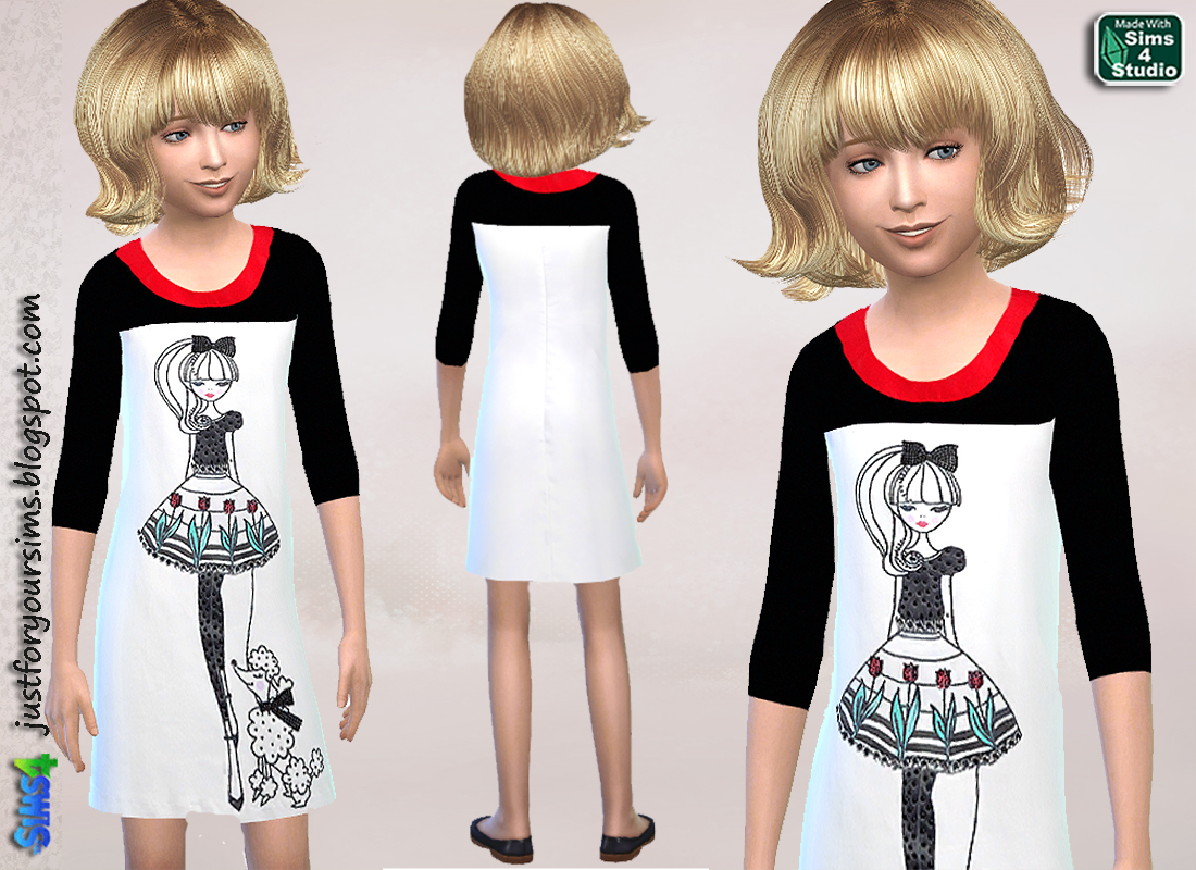 Doll Dress by Just For Your Sims