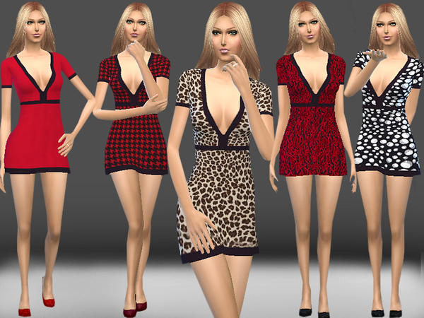 Deep V Neck Dress by melisa inci