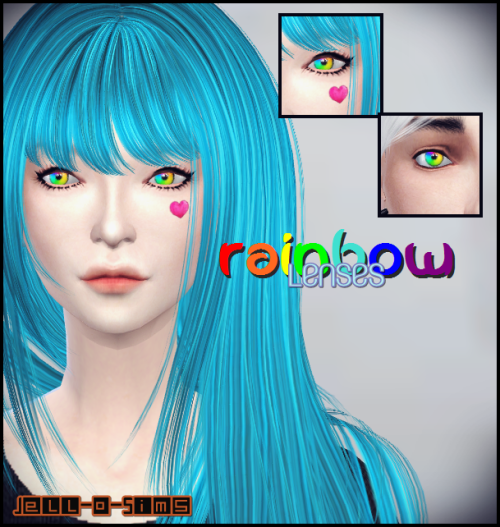 Rainbow Lenses by JelloSims