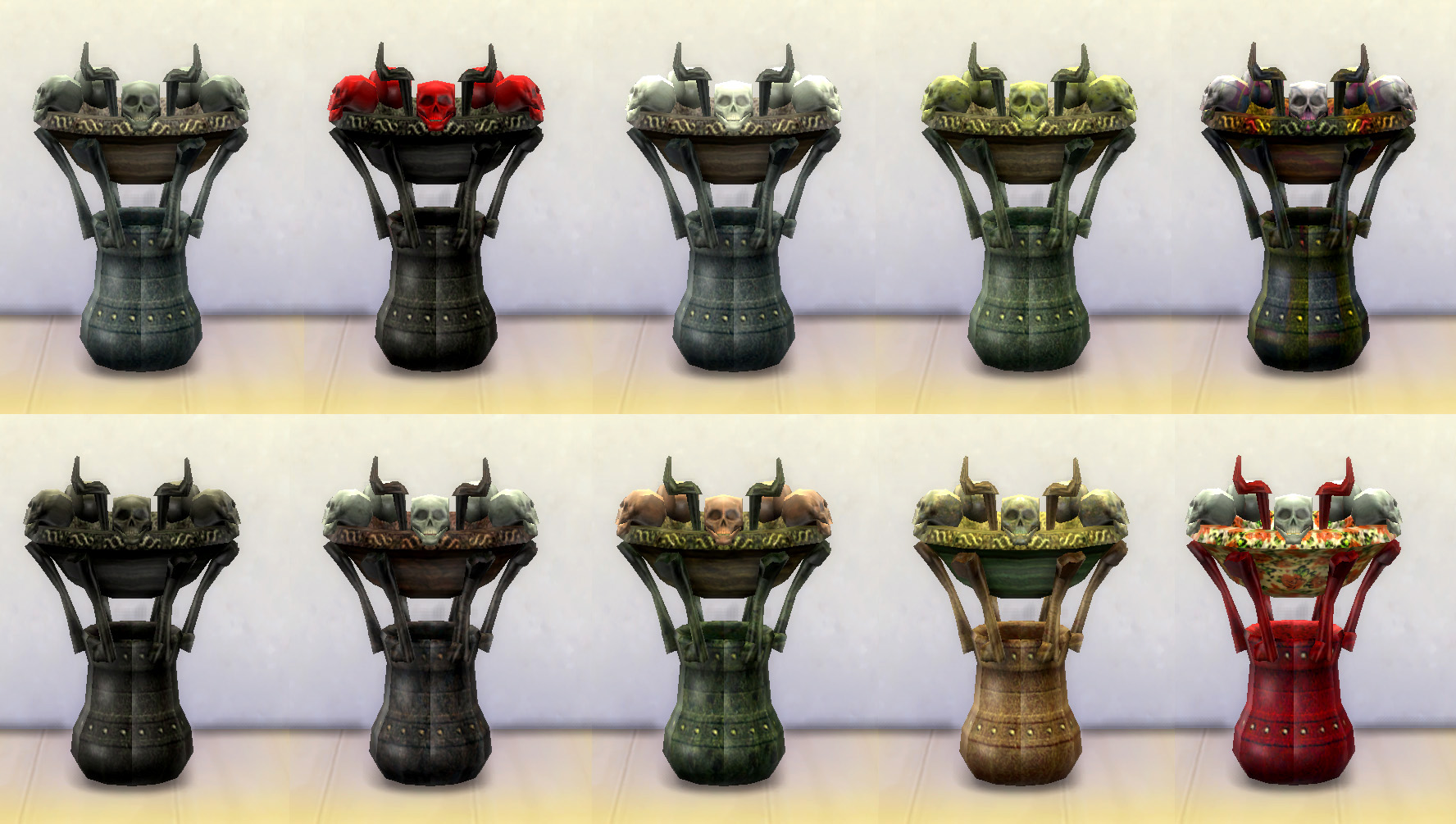 Sims 2 Resurrect-o-Nomitron as Gothic End Table by Esmeralda