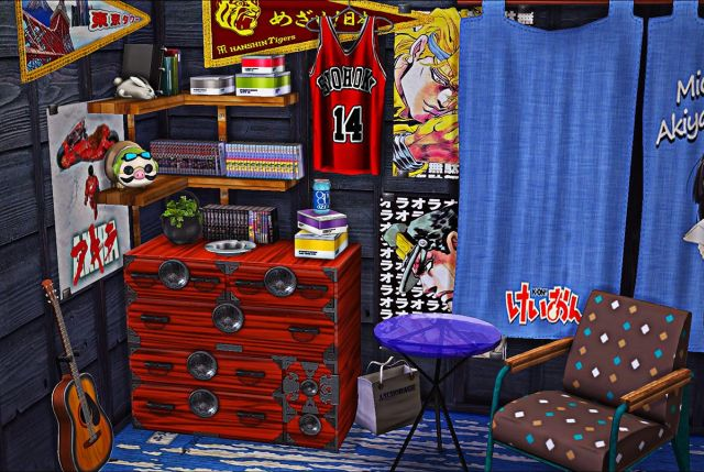 Japanese Dresser, Stereo and Clutter Set by kimu412