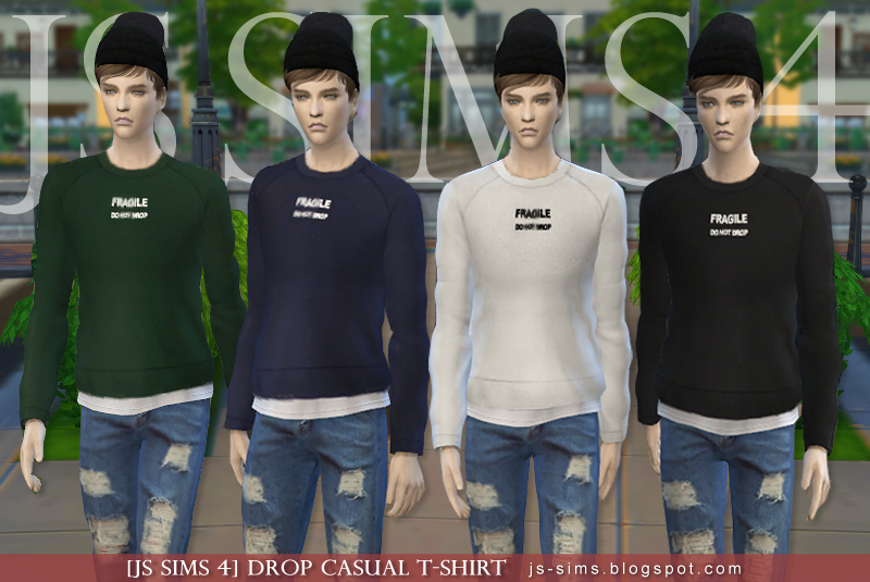 Drop Casual T-Shirt by JS SIMS 4