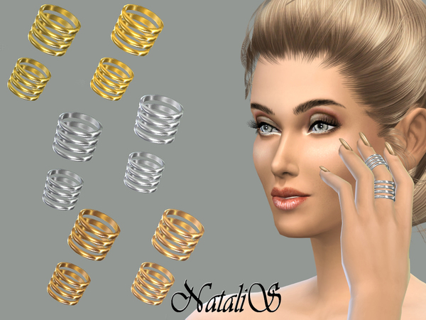 NataliS_Middle finger stacks ring set FA-YA