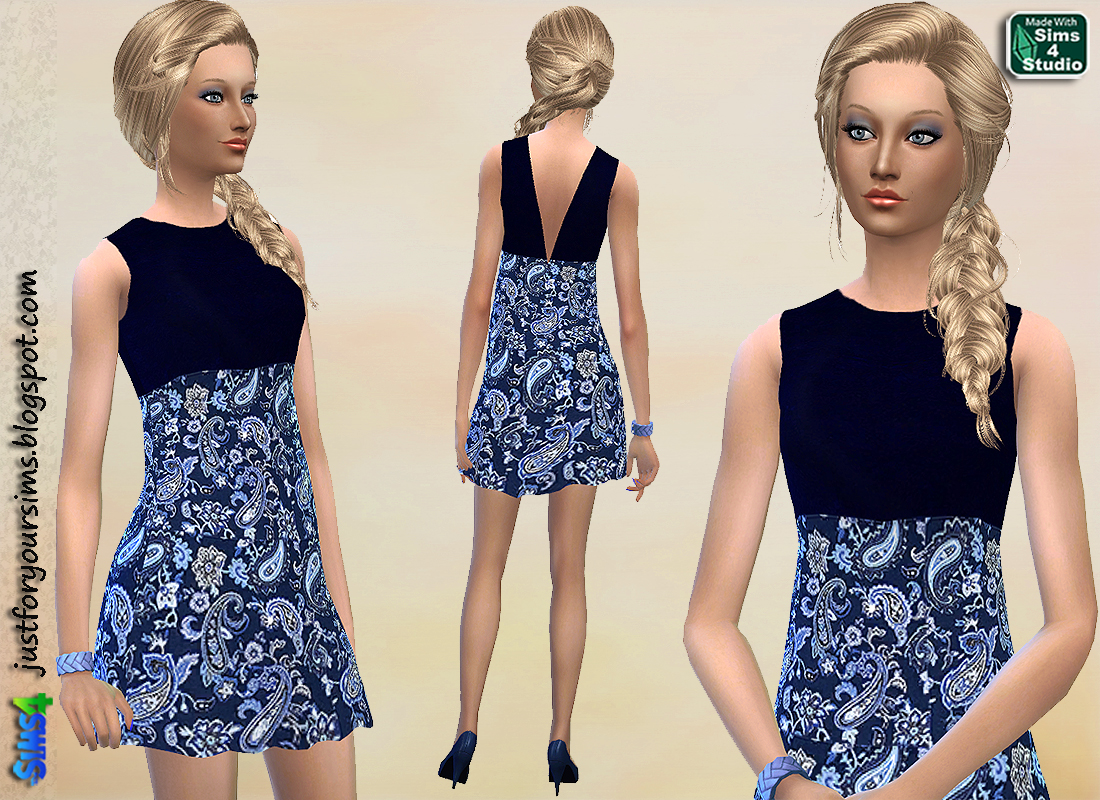 Paisley Dress by Just For Your Sims