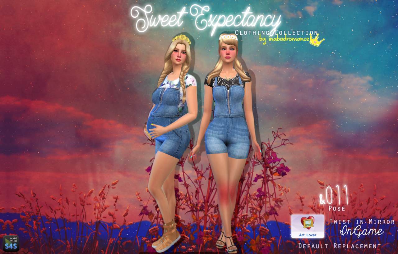 Sweet Expectancy Overalls for Teen - Elder Females by Inabadromance