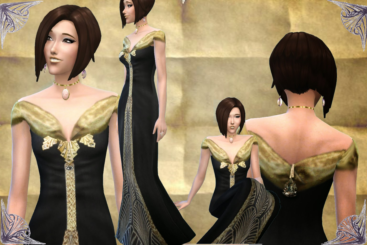 Art Nouveau Gown by Mythical Dreams Sims 4