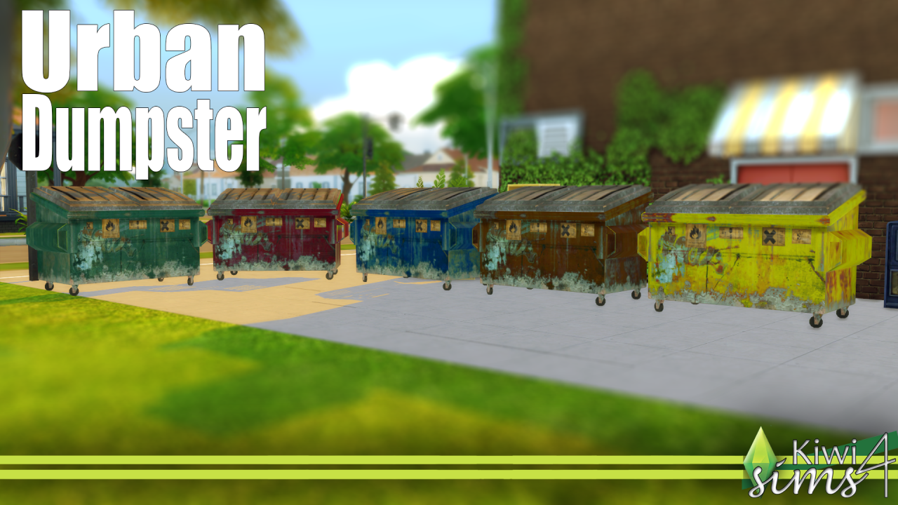Urban Dumpsters by KiwiSims4