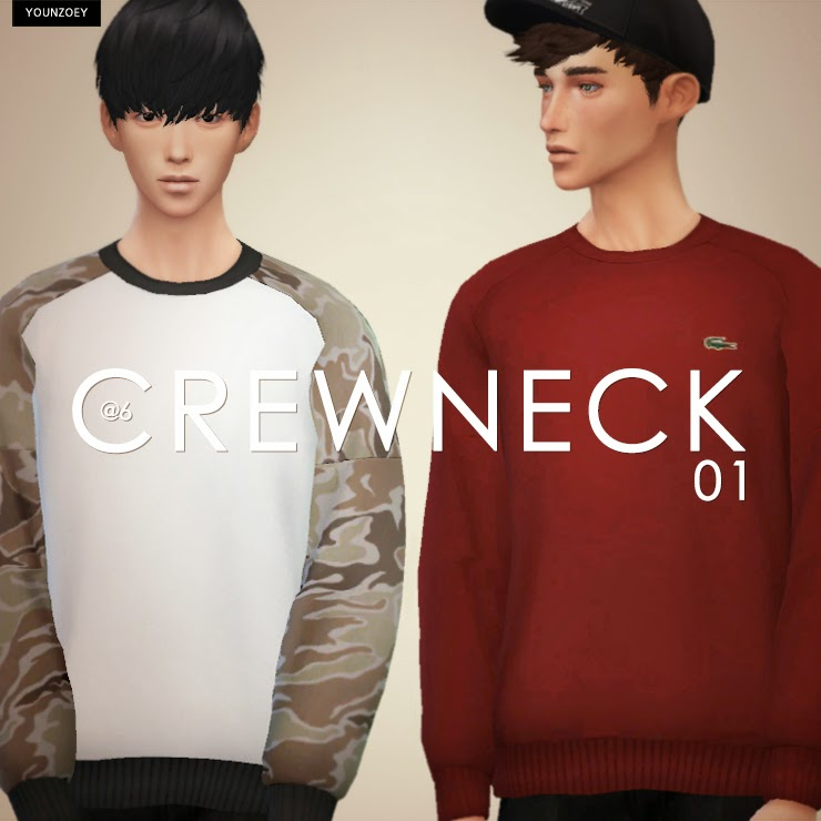 Crew Neck Sweaters for Adult Males by YoungZoey