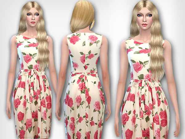 London Roses Printed Dress by Pinkzombiecupcakes