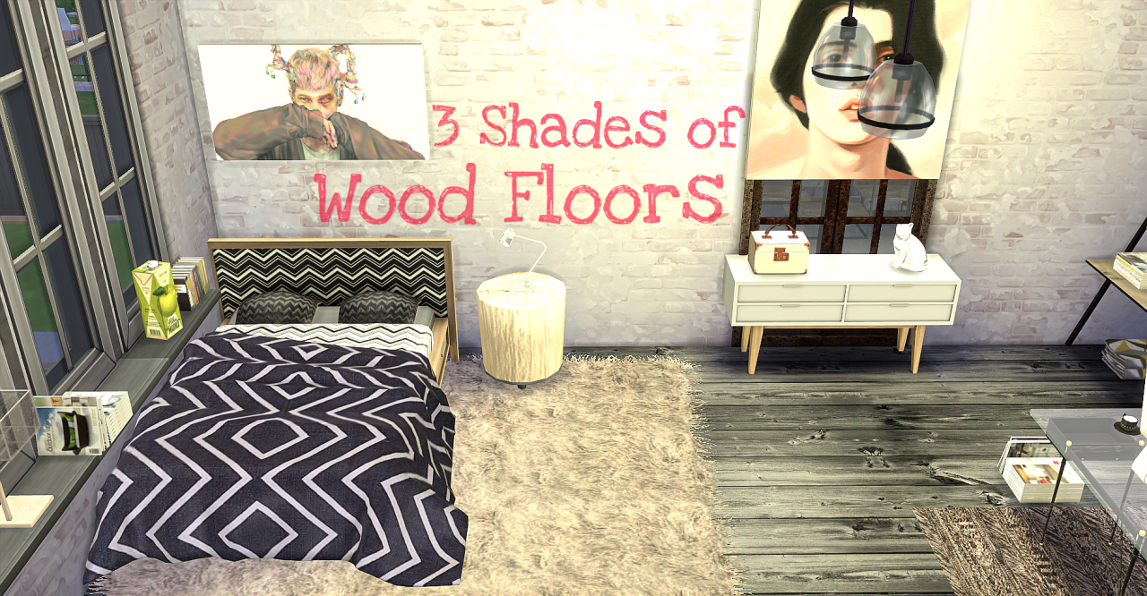 3 Shades of Wood Floors by EyemythSims