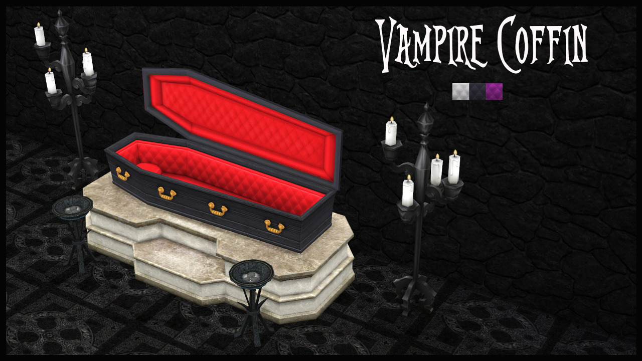 TS2 Vampire Coffin Conversion by BrialImmortelle