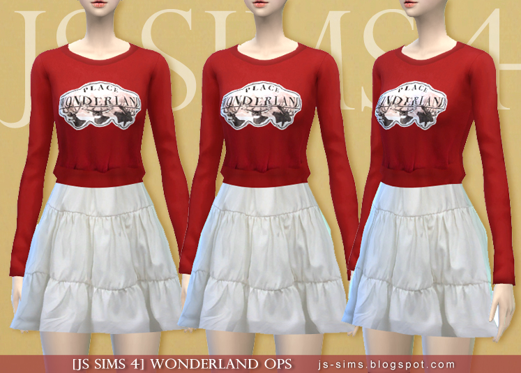Wonderland OPS Outfit for Teen - Elder Females by JS Sims 4