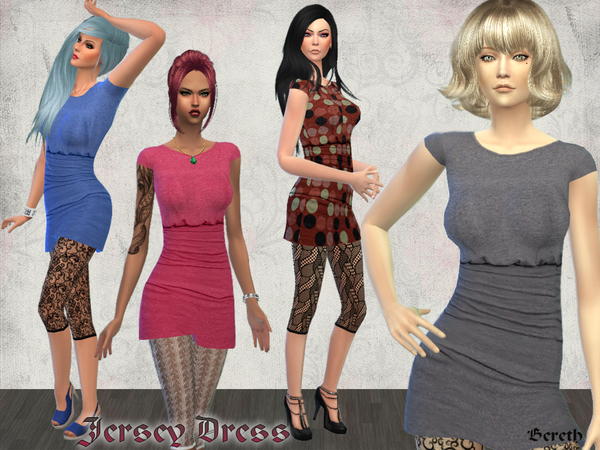 Jersey Casual Short Dress by Bereth