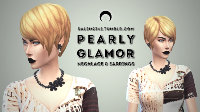 Pearly Glamour Earrings and Necklace by Salem2342