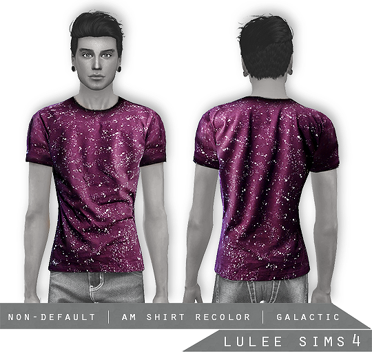Galactic Shirts for Males by LuleeSims