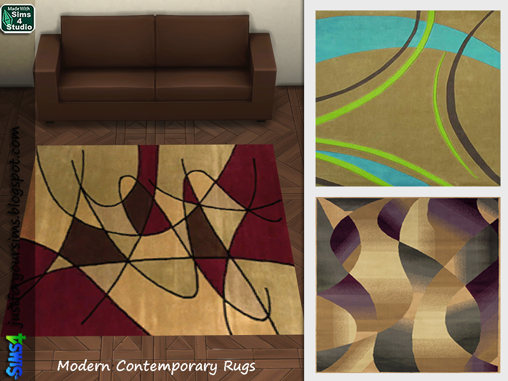 Contemporary Rugs by Just For Your Sims