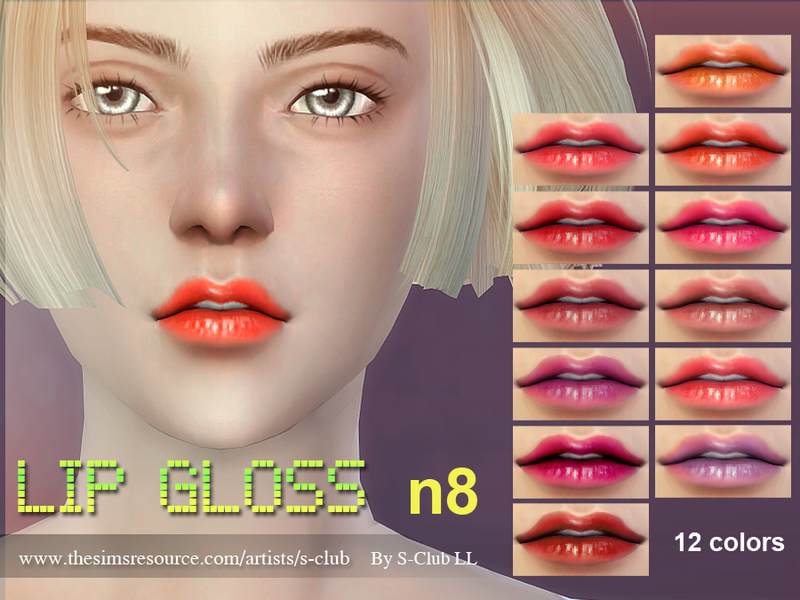 S-Club LL thesims4 Lipstick F08