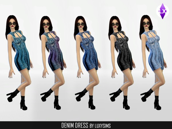 Denim Dress by LuxySims3
