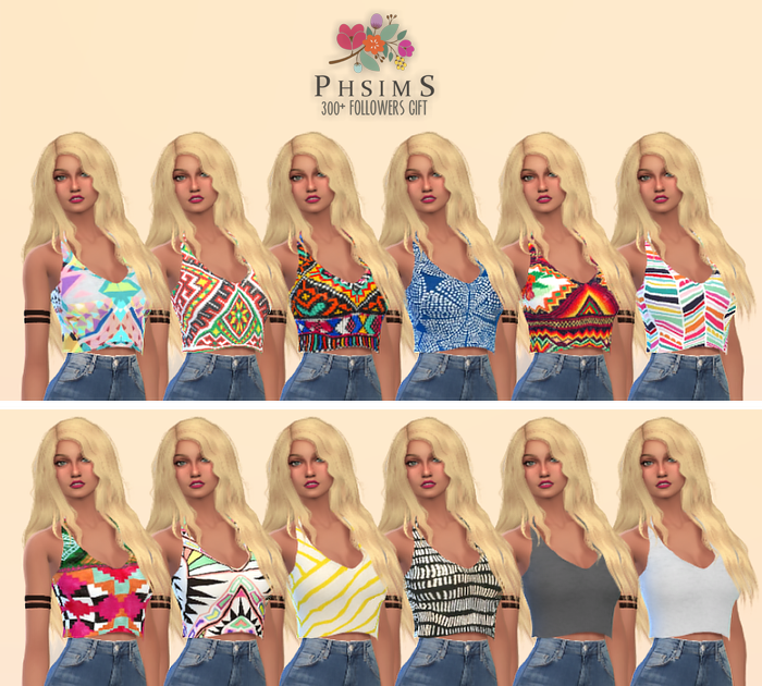 Tank Top Recolors for Females by PHSims