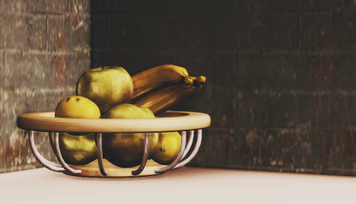 Wall Sims TS2 Fruit Bowl Conversion by BlvckLifeSimz