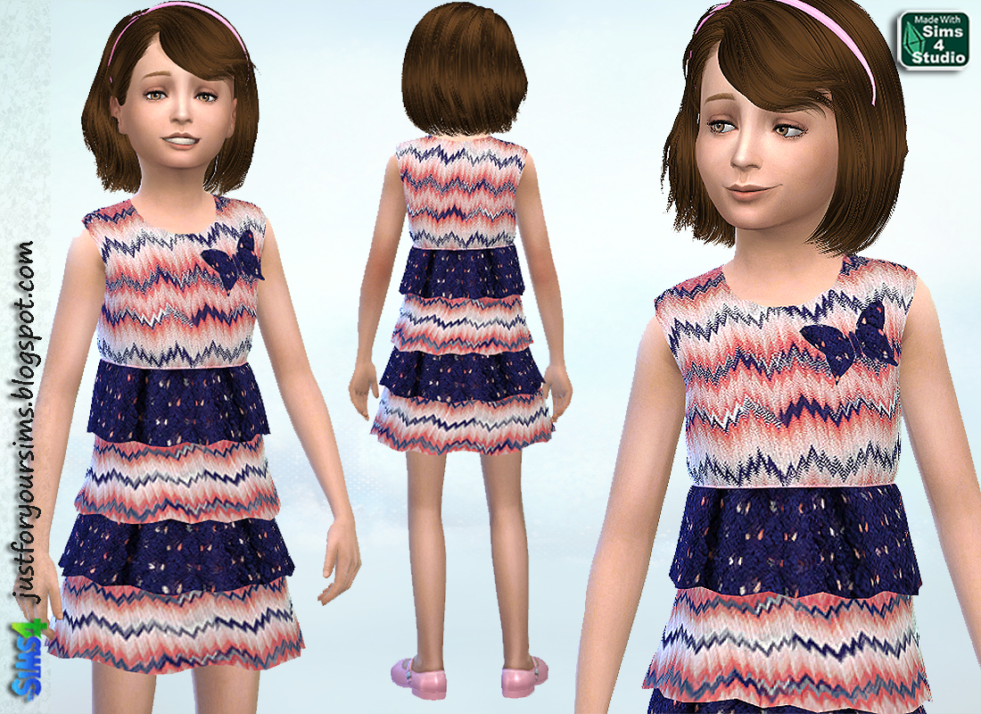 Fine Knit Frill Dress by Just For Your Sims