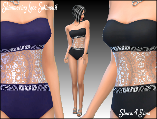 Shimmering Lace Swimsuit for Females by Shara