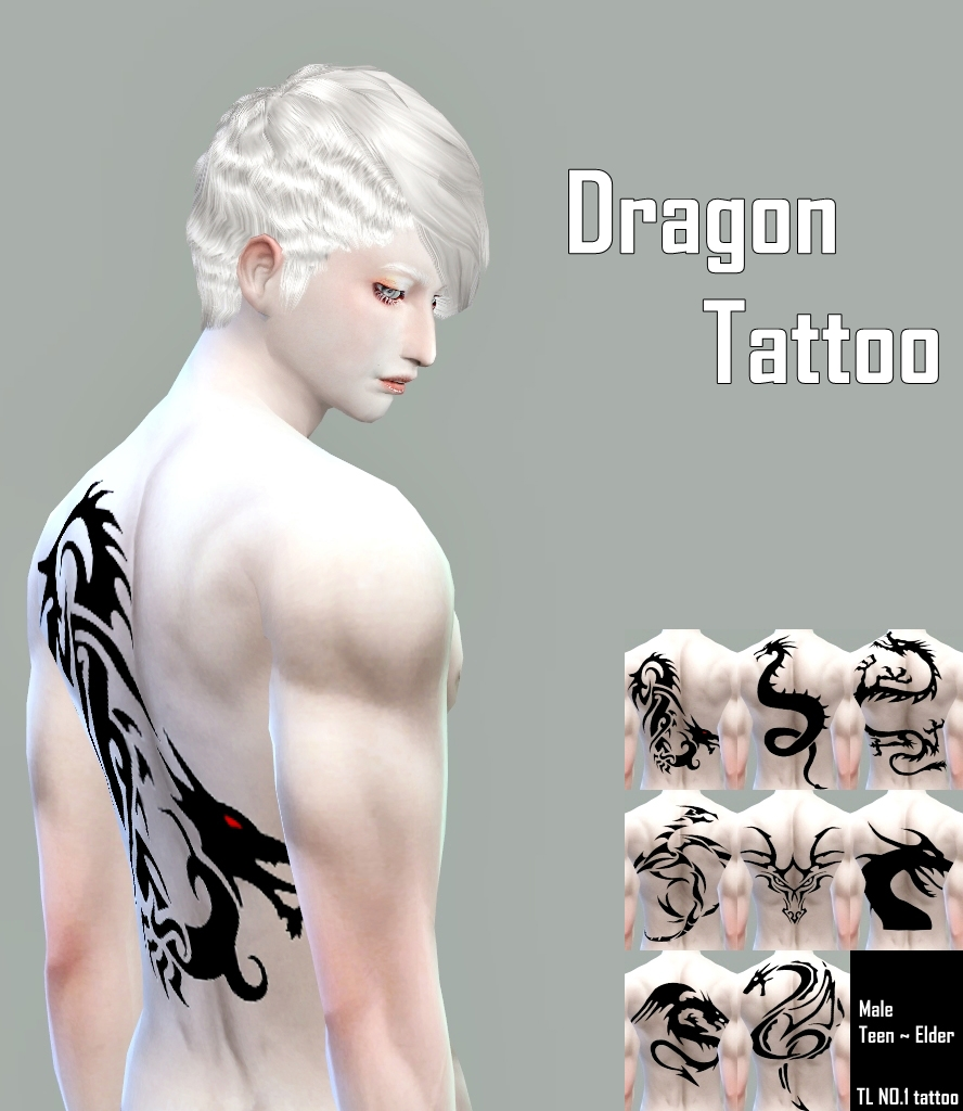 TL Lab  Tattoos : No.1 Dragon Tattoo