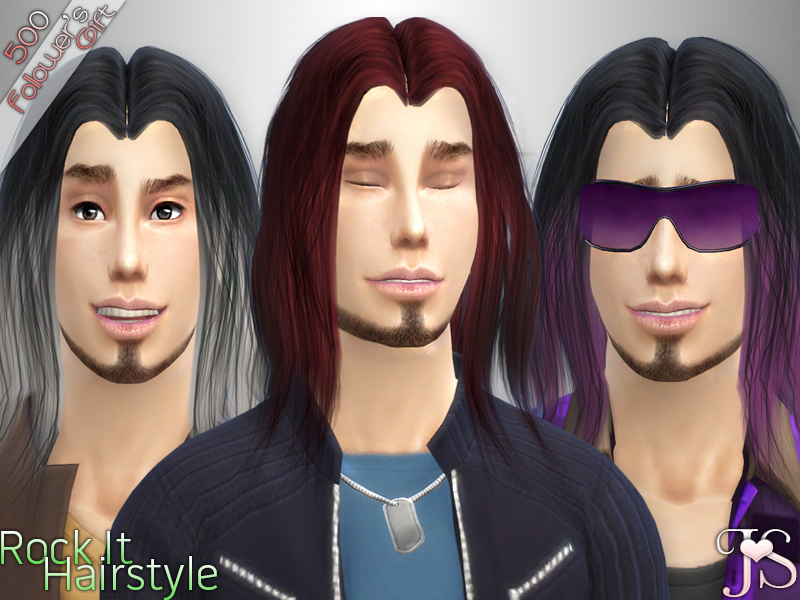 Rock It Hair for Males by JavaSims