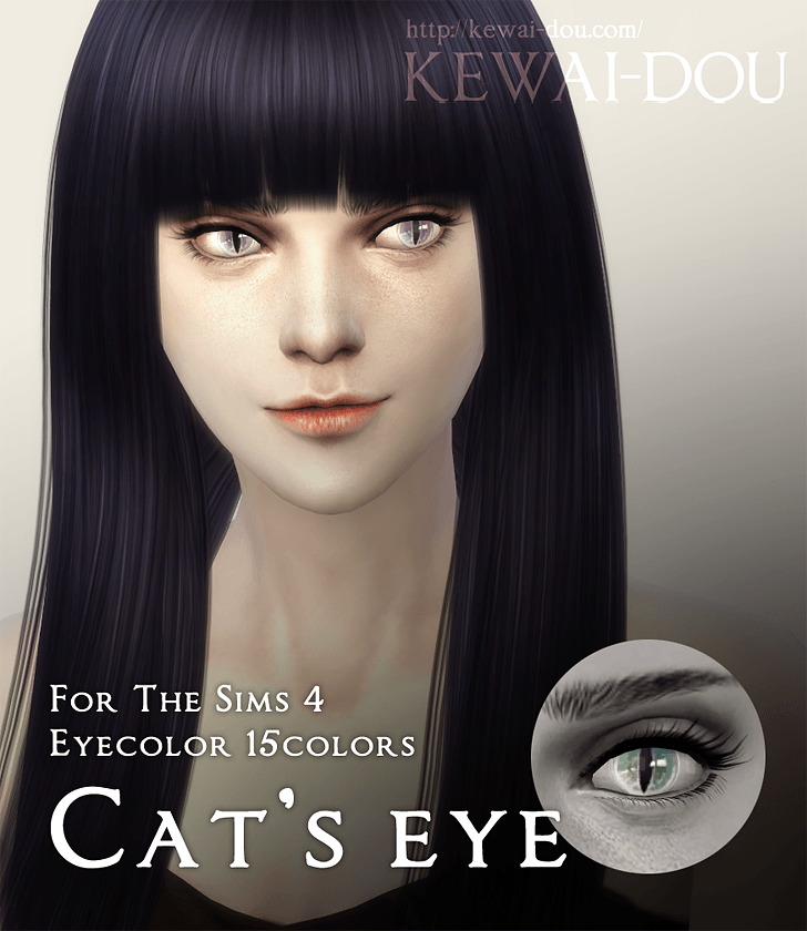 Cats eyes (The Sims4 Eyecolor) by Mia Kewai